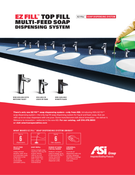 Top Fill Multi-Feed Soap Dispensing System