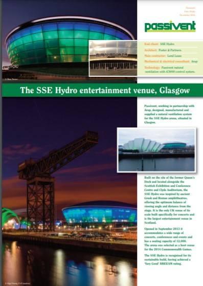 Passivent case study - The SSE Hydro entertainment venue, Glasgow
