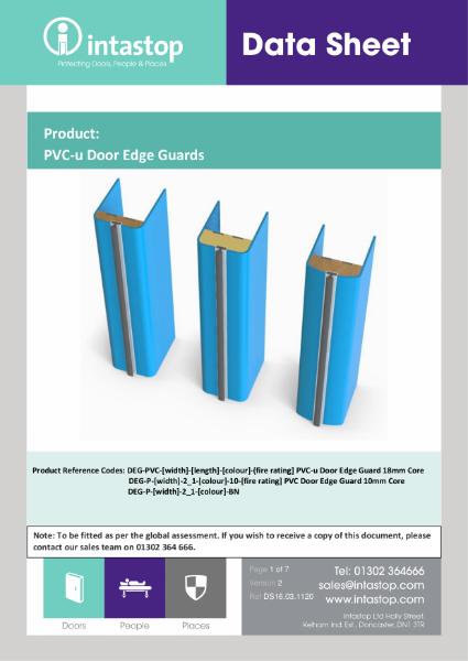 Datasheet - PVCu  Door Edge Guard