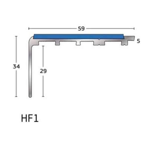 H Range - Traditional Aluminium Stair Nosing / Stair Edging for Carpet and Carpet Tile