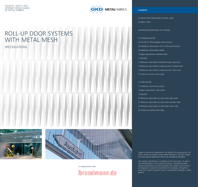 01 - Metal Fabric Roller Shutter System - GKD Creative Weave - Stainless Steel Mesh Roller Shutter solution 2014