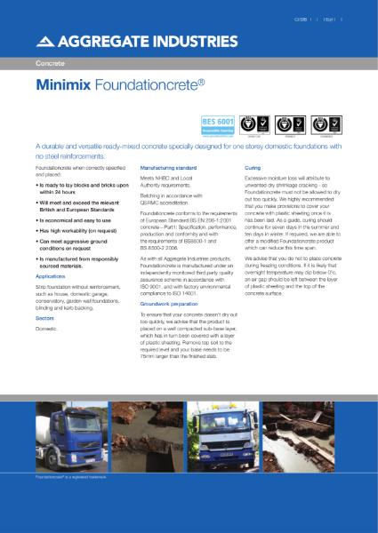 Foundationcrete® ready-mixed concrete