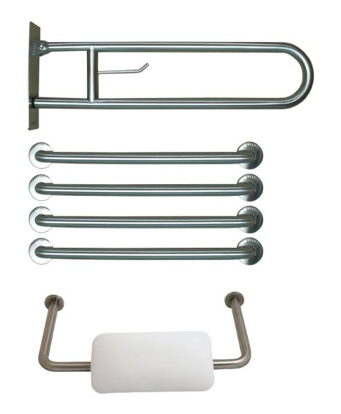 IFS15054.141.S Doc M Pack of Prestige Bathroom Grab Rails and Padded Toilet Backrest