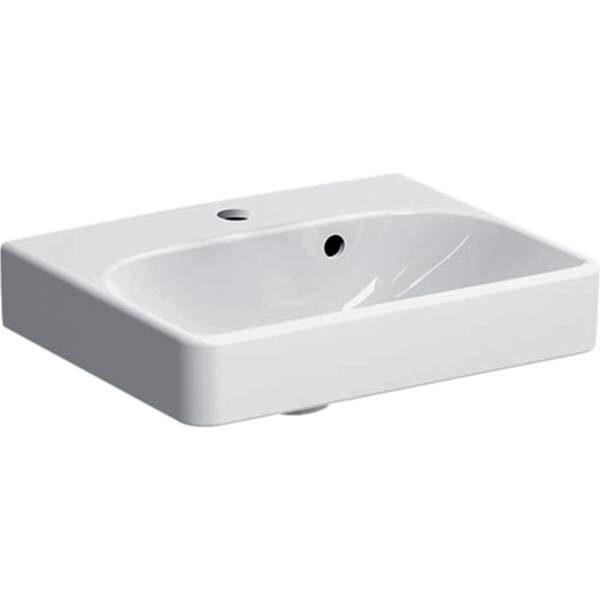 Smyle Square handrinse basin with asymmetrical overflow