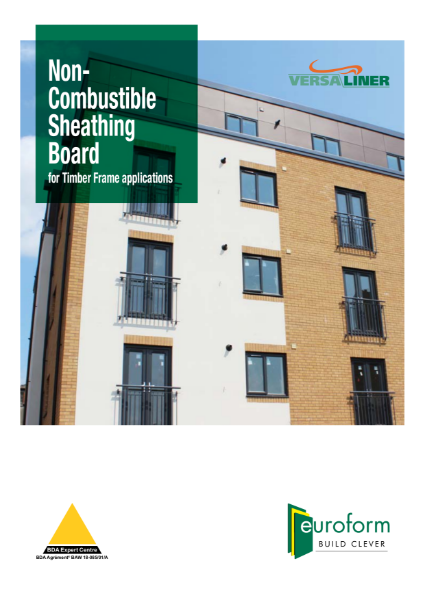 Euroform Versaliner Non-Combustible Sheathing Board for Timber Frame applications