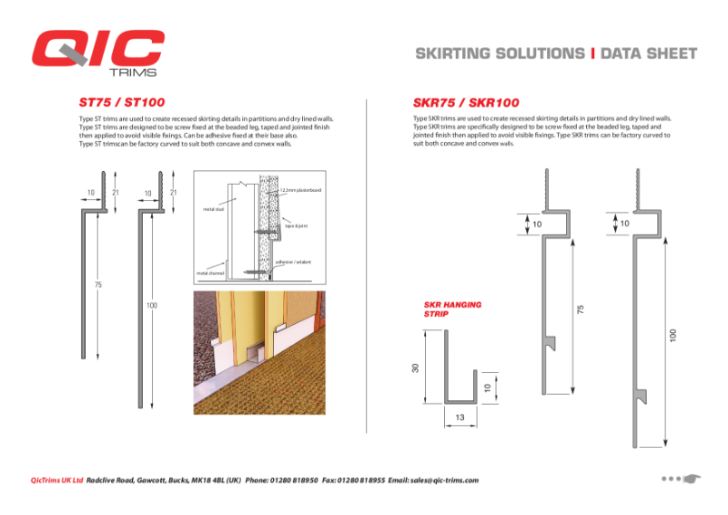 QIC Skirting solutions ST range