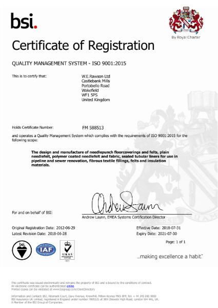 ISO 9001-2015 BSI CERTIFICATE