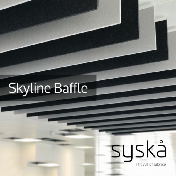 06 - Skyline Baffle - Acoustic Ceiling Panel - Technical Datasheet