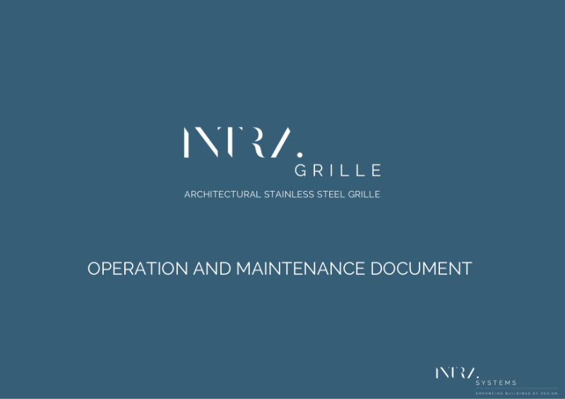 O&M Manual - INTRAgrille