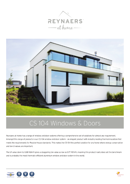 Aluminium Windows for Domestic Market - CS 104