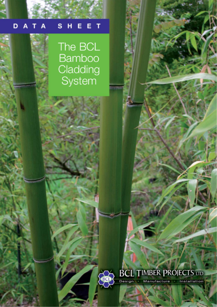 BCL 'Low Cost-Low Carbon' Bamboo Panel System