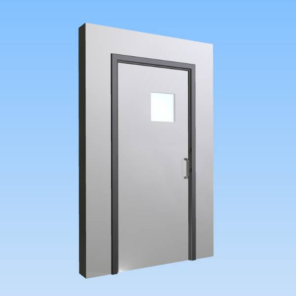 CS Acrovyn® Impact Resistant Doorset - Single leaf with type VP9 Vision Panel