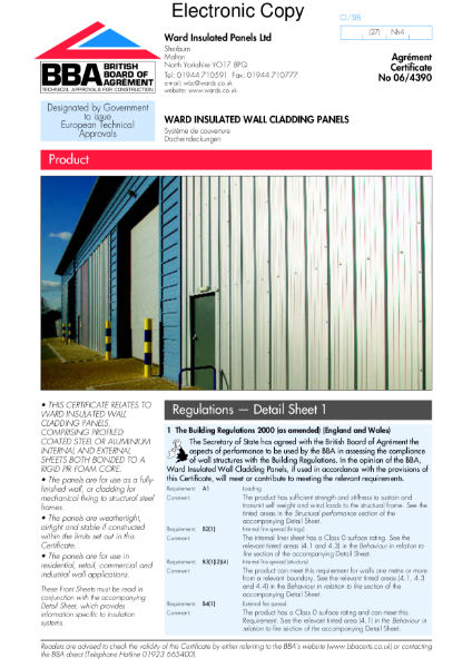 06/4390 Insulated wall cladding panels see Ward