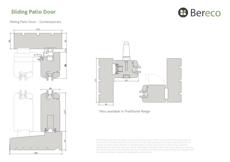 Bereco Patio Doors Sections