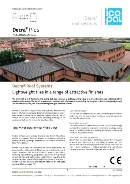 Decra Plus Information Sheet