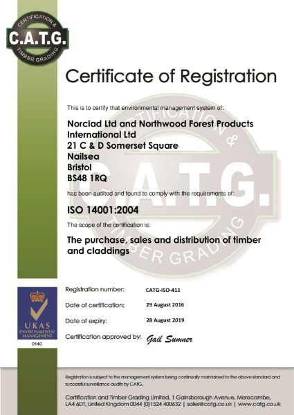Certificate of Registration ISO14001