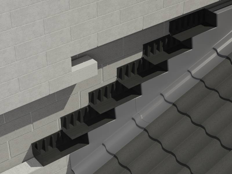 Unleaded Everdry Stepped Cavity Trays for Blockwork