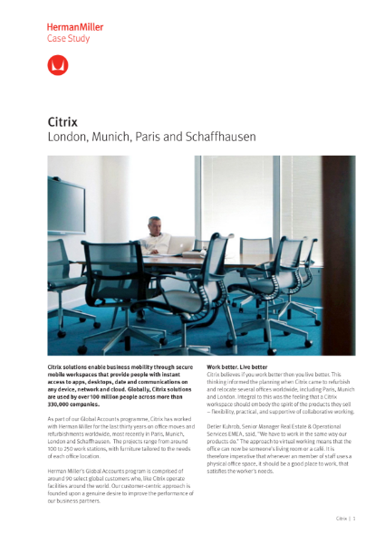 Case Study - Citrix - Herman Miller