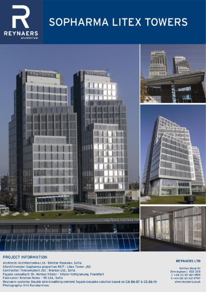 Case Study: Sopharma Litex Towers, featuring CW 86 unitised curtain wall