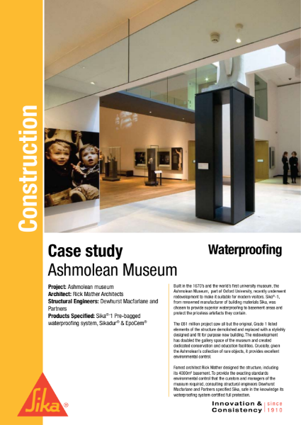 Waterproofing Ashmolean Case Study
