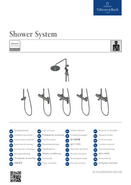 Shower System Installation Instructions