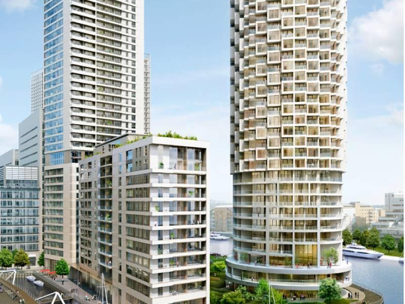 Building Wood Wharf for Canary Wharf