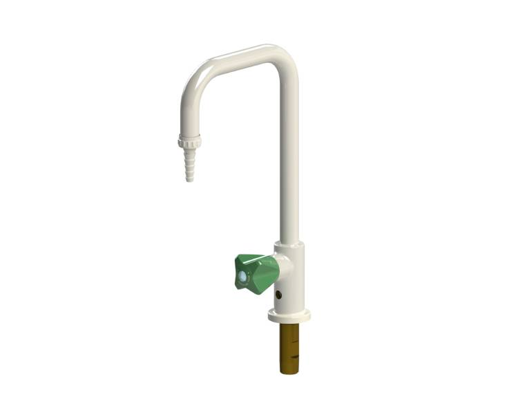 Table mounted laboratory water tap