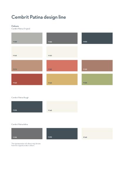 Cembrit Patina design line colours
