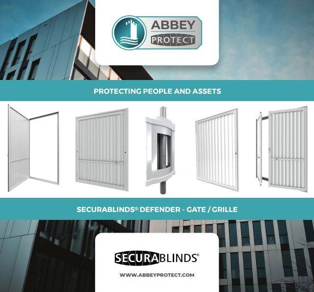 SECURABLINDS® Defender, Left/ Right Hand Hung Gate, Double Gate, Fixed Grille or Double Lock Grille Security Blinds with Transom Options - A1GTLHH(T) / A1GTRHH(T) / A1DG(T) / A1GR(T) / A1DLG(T)