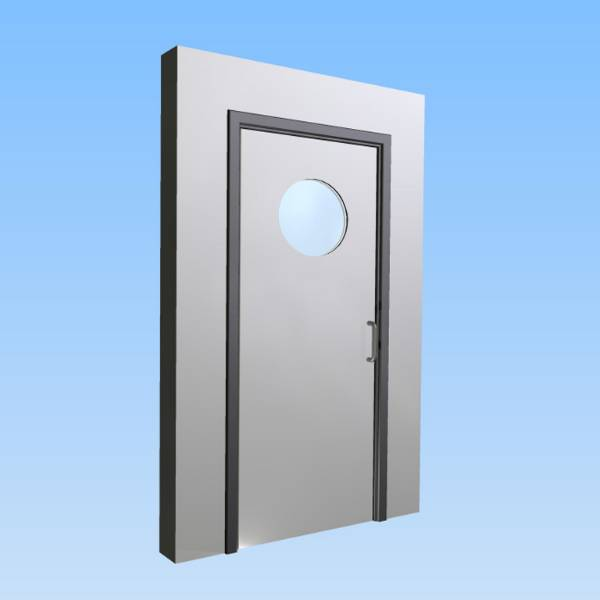 CS Acrovyn® Impact Resistant Doorset - Single with type VP6 Vision Panel