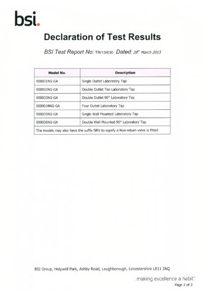 BSI British Gas Page 2