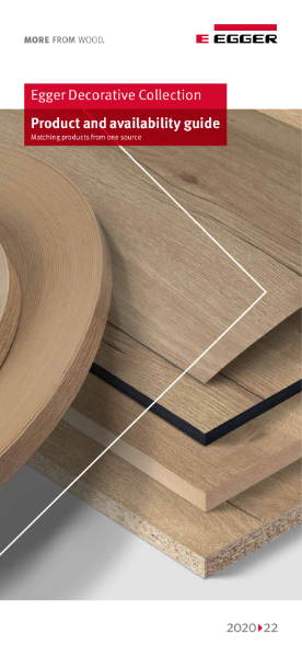 EGGER Decorative Collection 2020-22 Product and Availability Guide