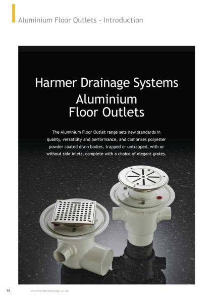 Harmer Aluminium Floor Drains