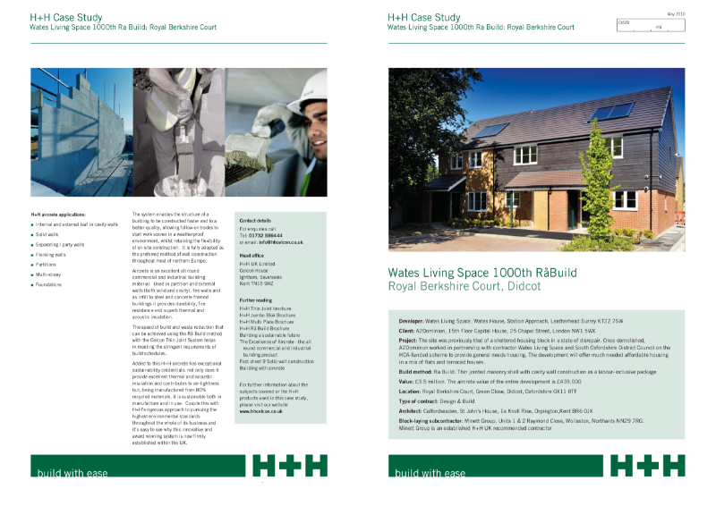 Case Study - Wates Living Space 1000th Rå Build