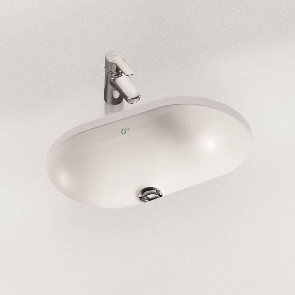 Concept Oval 62 cm Under-countertop Washbasin