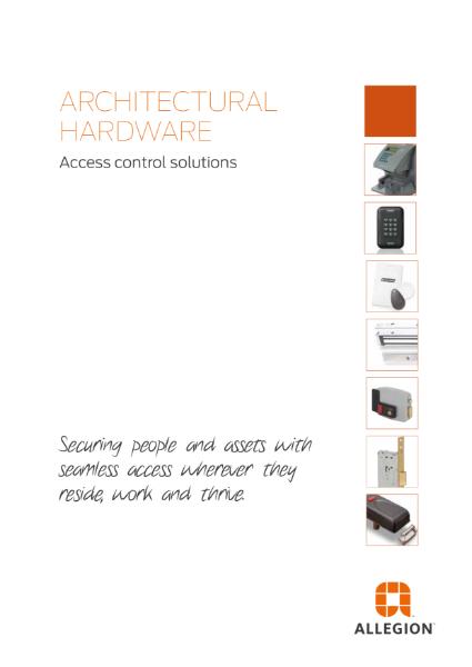Electronic Access Control Catalogue