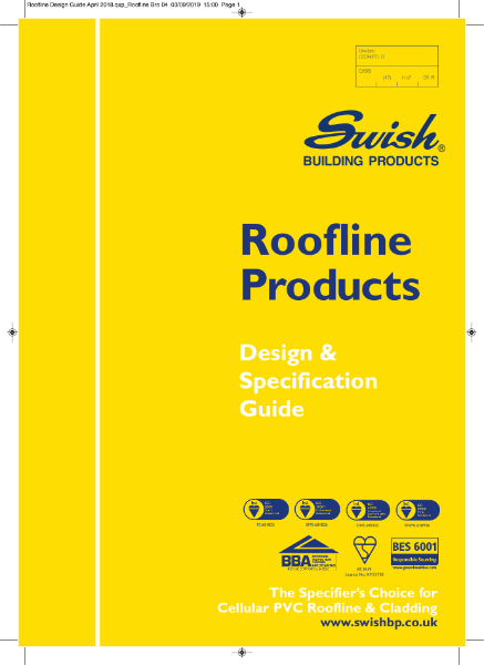 Swish Roofline Products: Design & Specification Guide