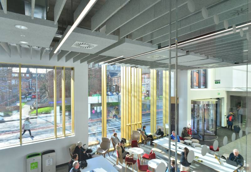 £22m expansion at Leeds Arts University complete with Knauf AMF ceiling systems