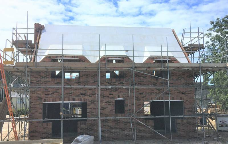 12mm Magply  serves as fireproof  sarking for new  build thatched  property