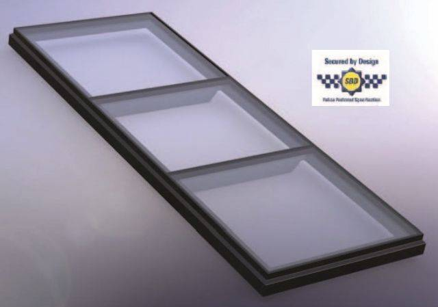 RG-80-20 Protect+ Fixed Flat Glass Multi Pane Rooflight