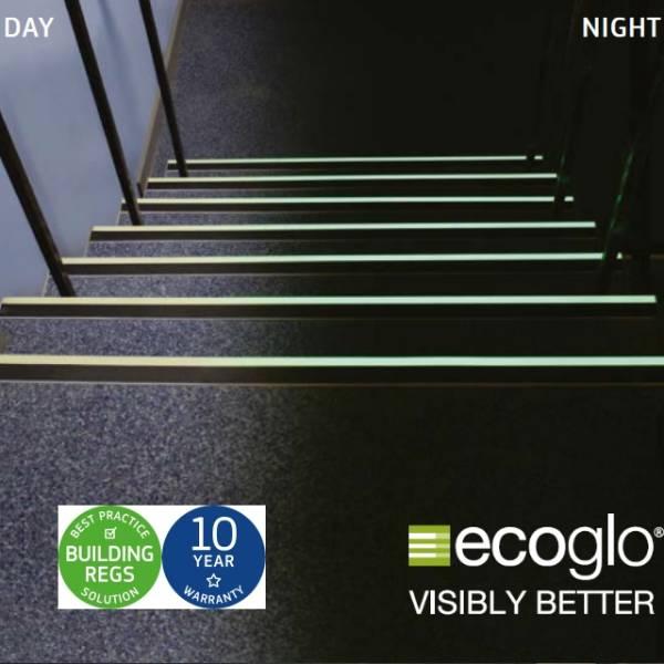 Ecoglo Photoluminescent Stair Nosing/ Stair Edging tread