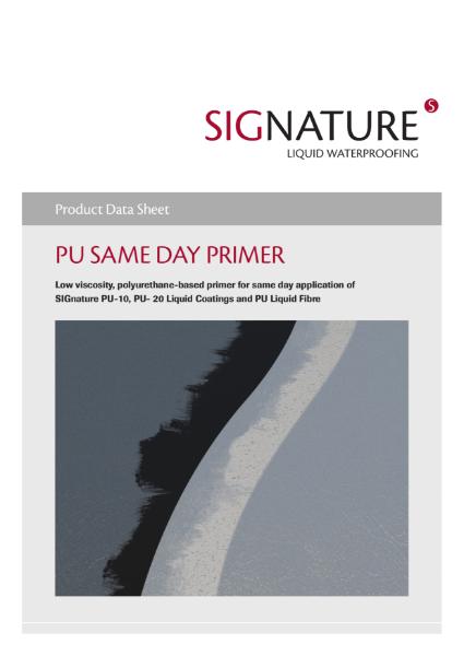 SIGnature PU Liquid Waterproofing Same Day Primer Datasheet