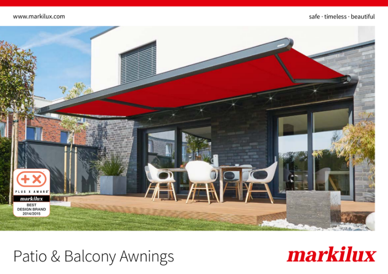 Markilux Patio and Balcony Awnings Brochure