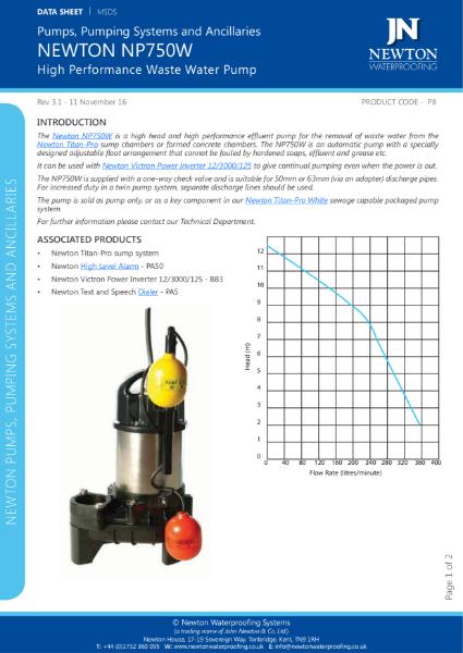 Newton NP750W Pump
