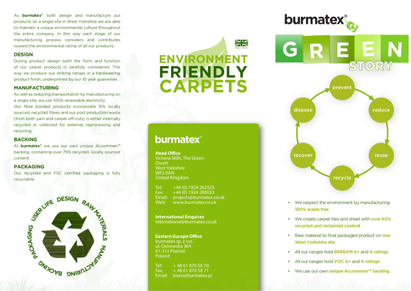 burmatex® environmental, green information