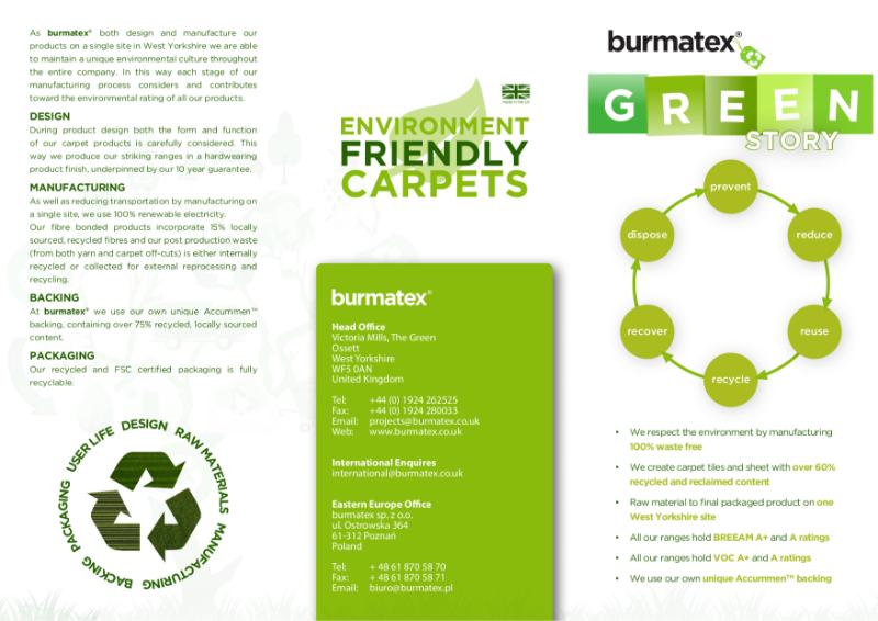 burmatex® environmental, green information