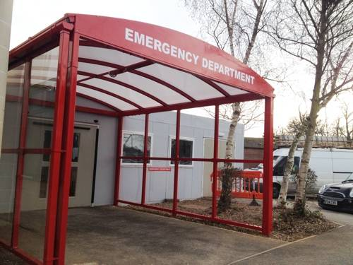 Wexham Hospital Case Study - Entrance Canopy