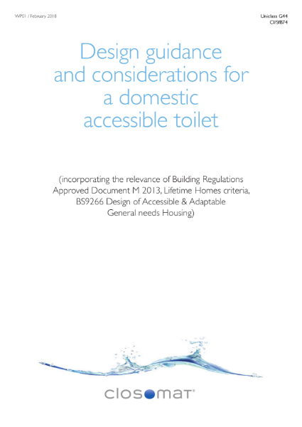 Design Guidance & Considerations for an Accessible Domestic Bathroom
