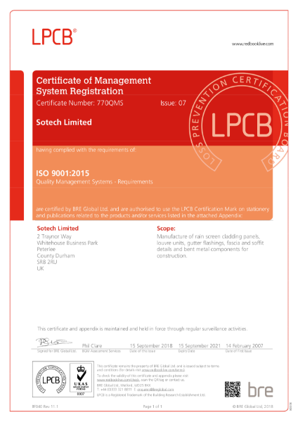 ISO 9001:2015 Quality Management Certificate