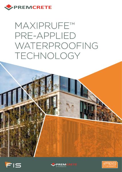 MAXIPRUFE Pre-applied Waterproofing Technology